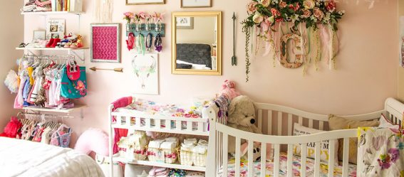 Dream On Me Violet Crib - Bohemian Nursery