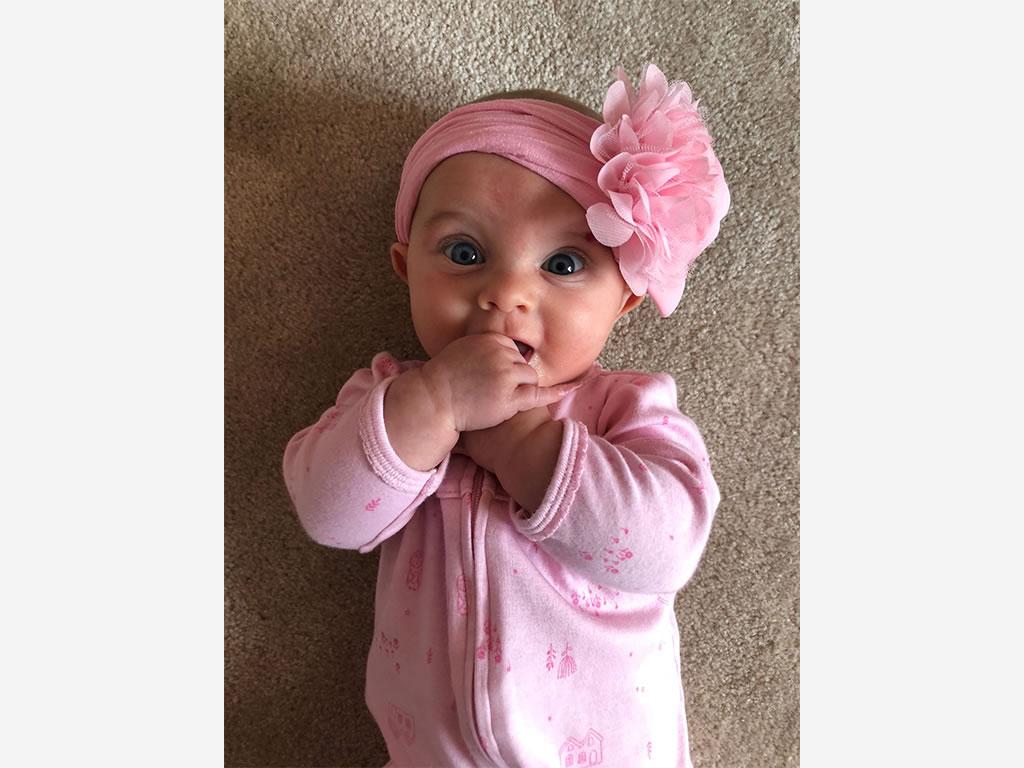 Nichole Kotarski Charlotte Baby in Evolur Aurora Crib