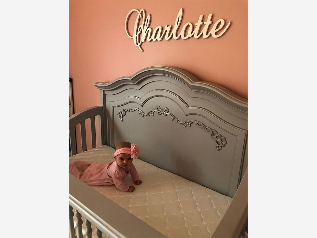 Nichole Kotarski Charlotte Baby with Evolur Aurora Nursery