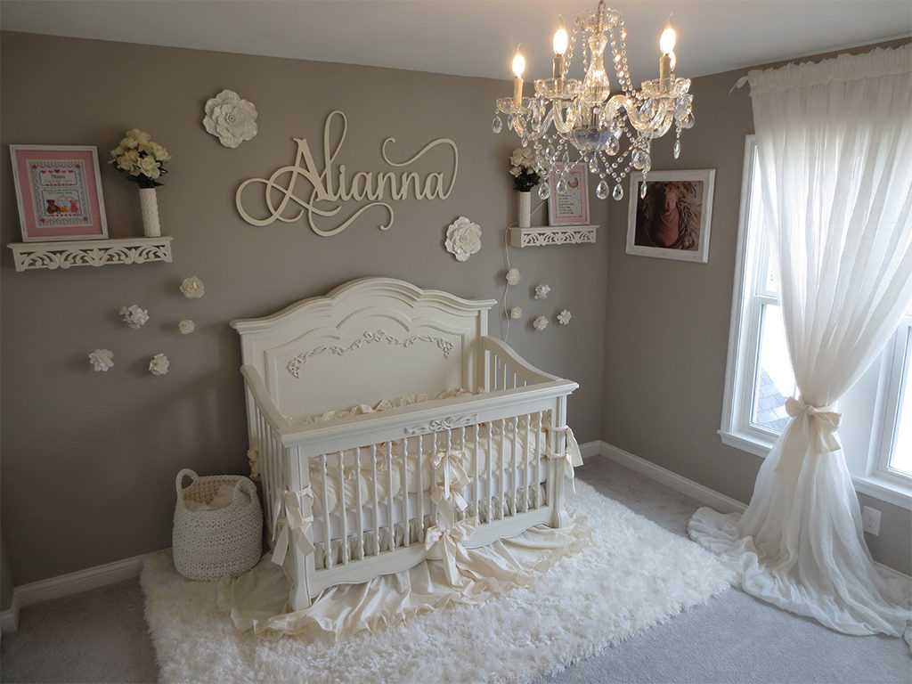 Ideas for a dream girl nursery - A sight in white!