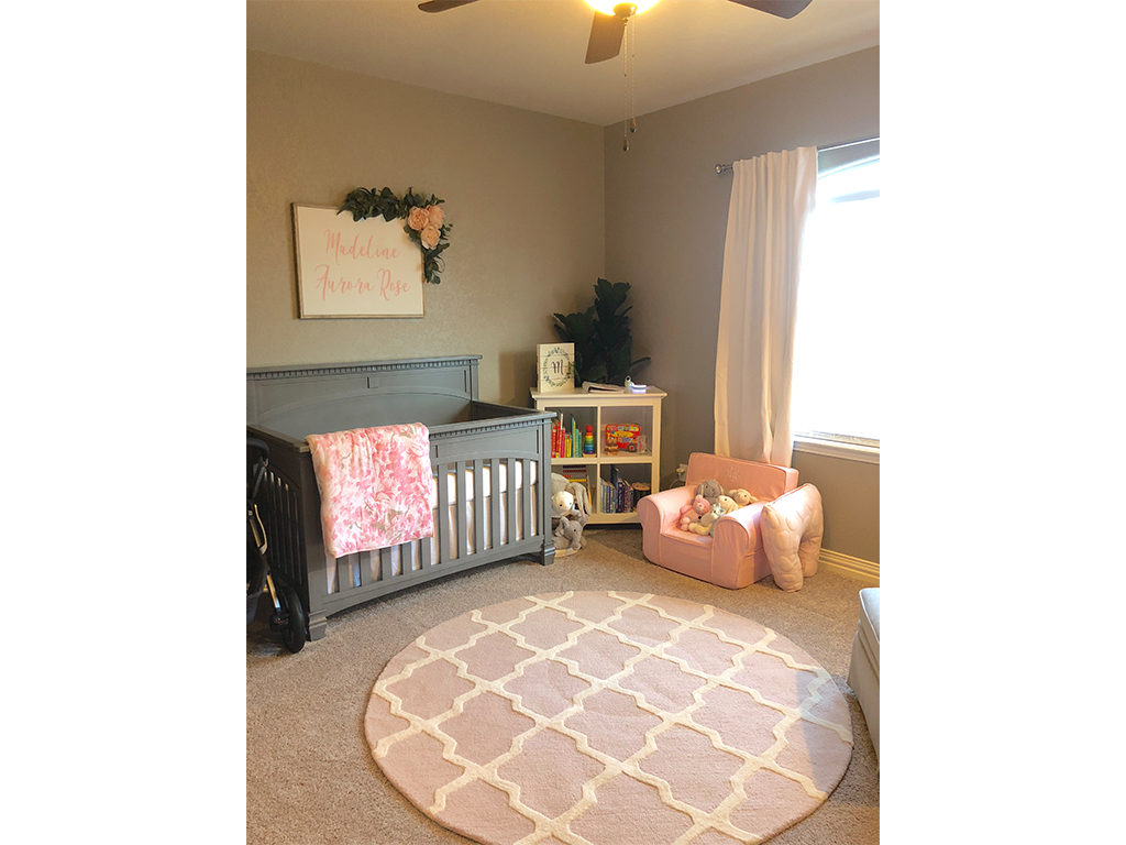 Pink and gray - A sophisticated combination - Featuring the Evolur Santa Fe 5-in-1 Convertible Crib in Storm Gray