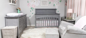 Kaylee's Gray and Pink Evolur Santa Fe Nursery