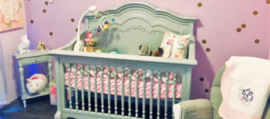 Baby Lilith's charming Evolur Aurora Nursery Banner