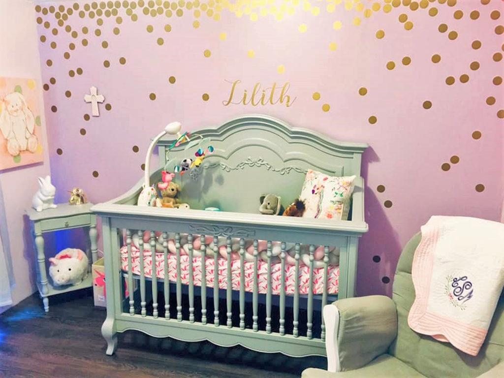 Baby Lilith's charming Evolur Aurora Nursery Image 13