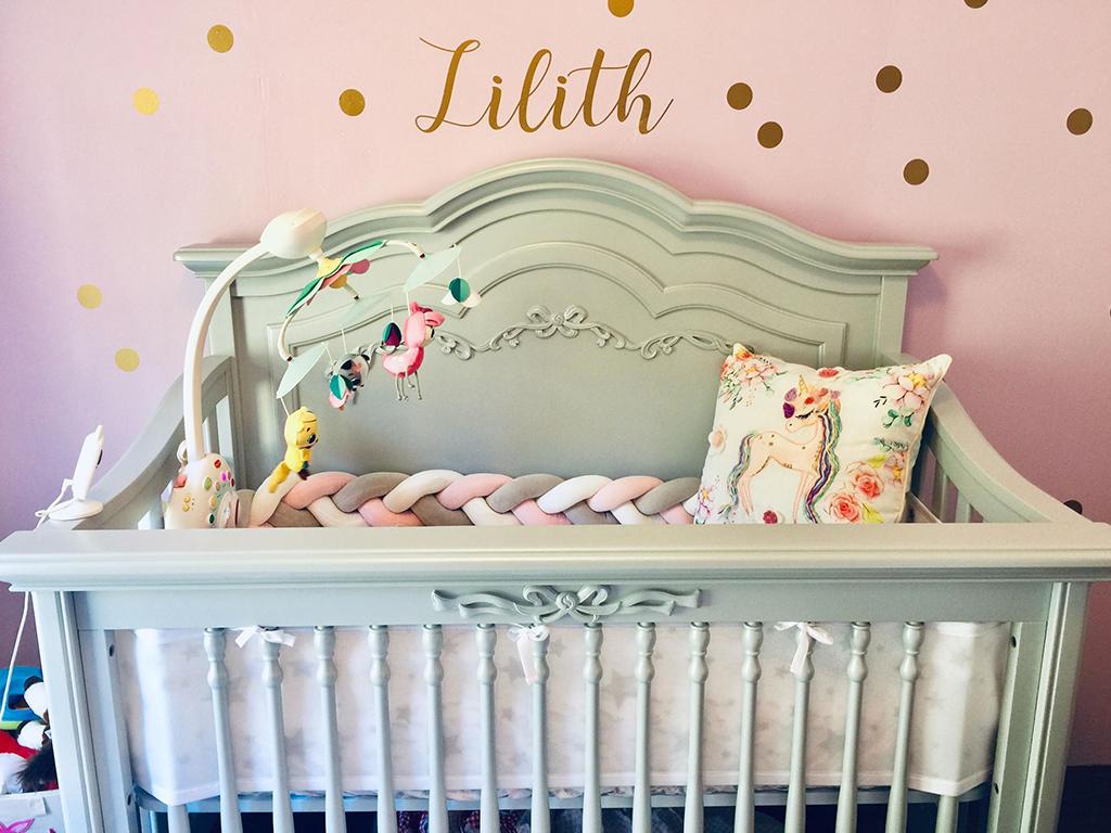 Baby Lilith's charming Evolur Aurora Nursery Image 14