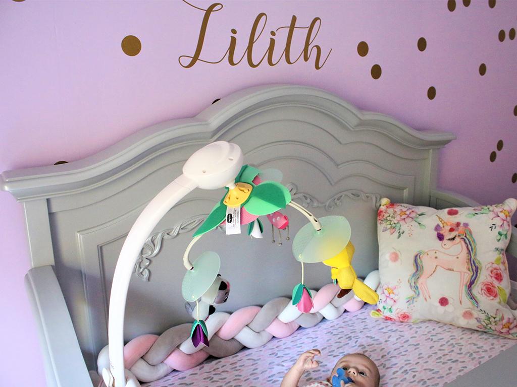 Baby Lilith's charming Evolur Aurora Nursery Image 6
