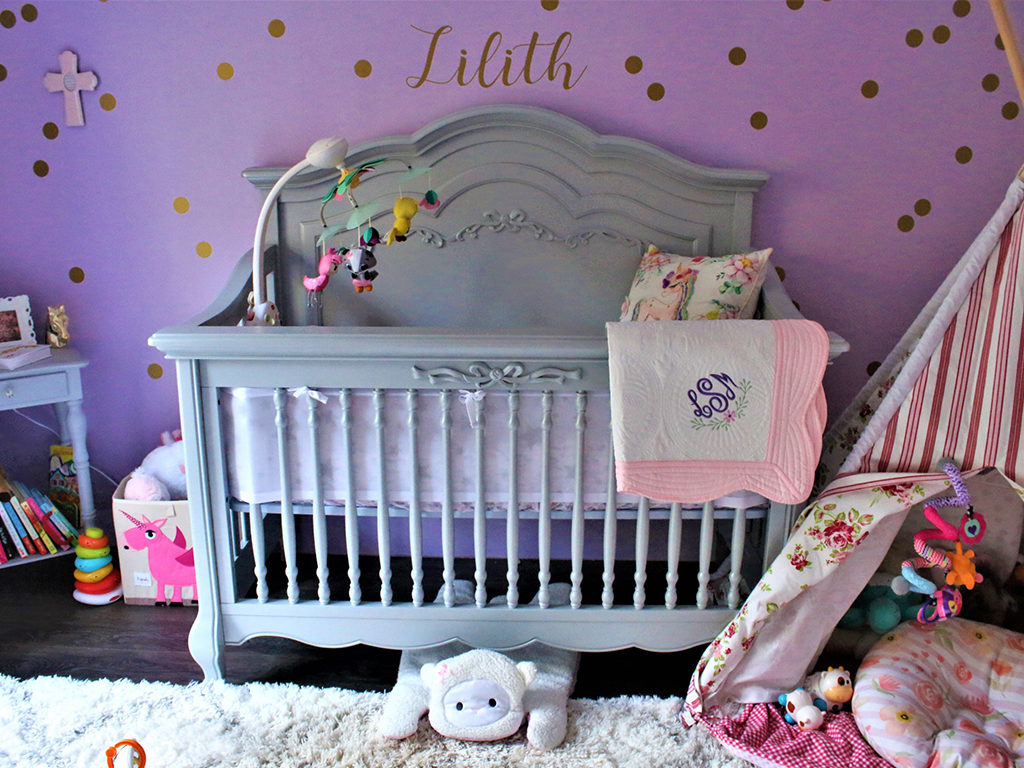 Baby Lilith's charming Evolur Aurora Nursery Image 8