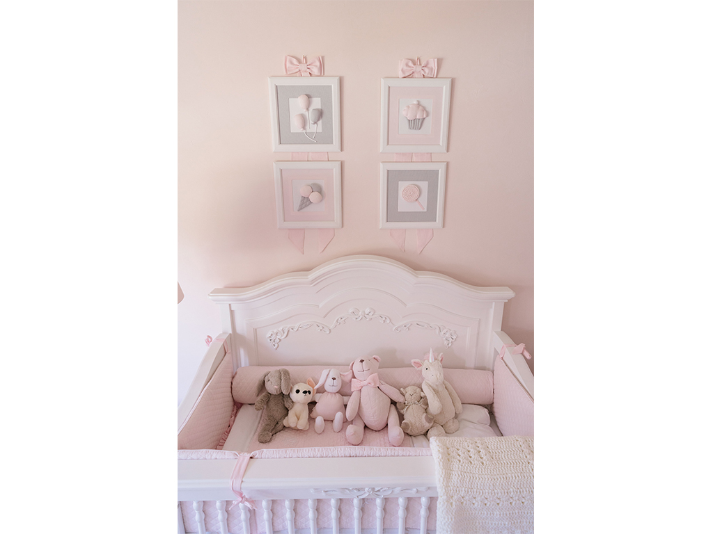 A Dreamy Pink And White Nursery