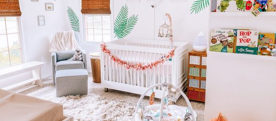 Evolur Art Deco Tropical Rainforest Themed Nursery