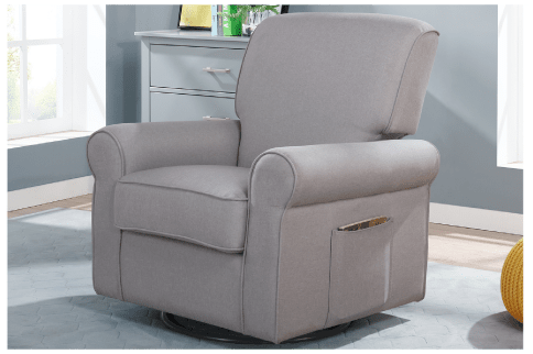 The London Upholstered 360 Swivel and Glider