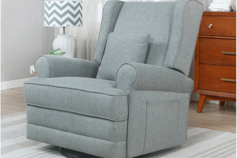 The Melbourne Wing Back Swivel Glider