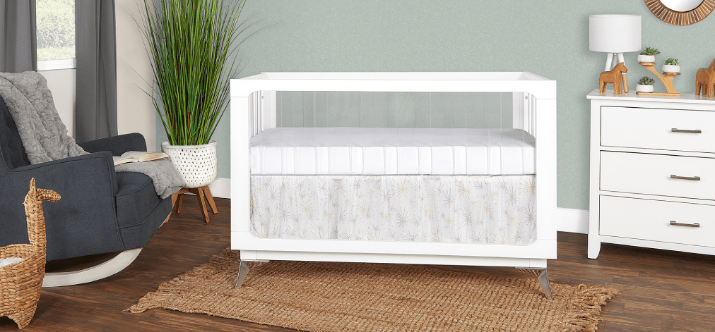 Acrylic Millennium 4-in-1 Convertible Crib