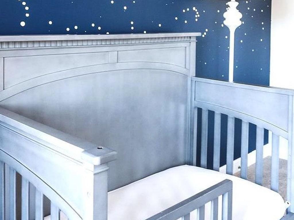 White or Grey Crib